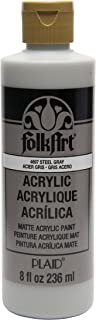 product image for FolkArt Acrylic Paint in Assorted Colors (8 oz), , Steel Gray