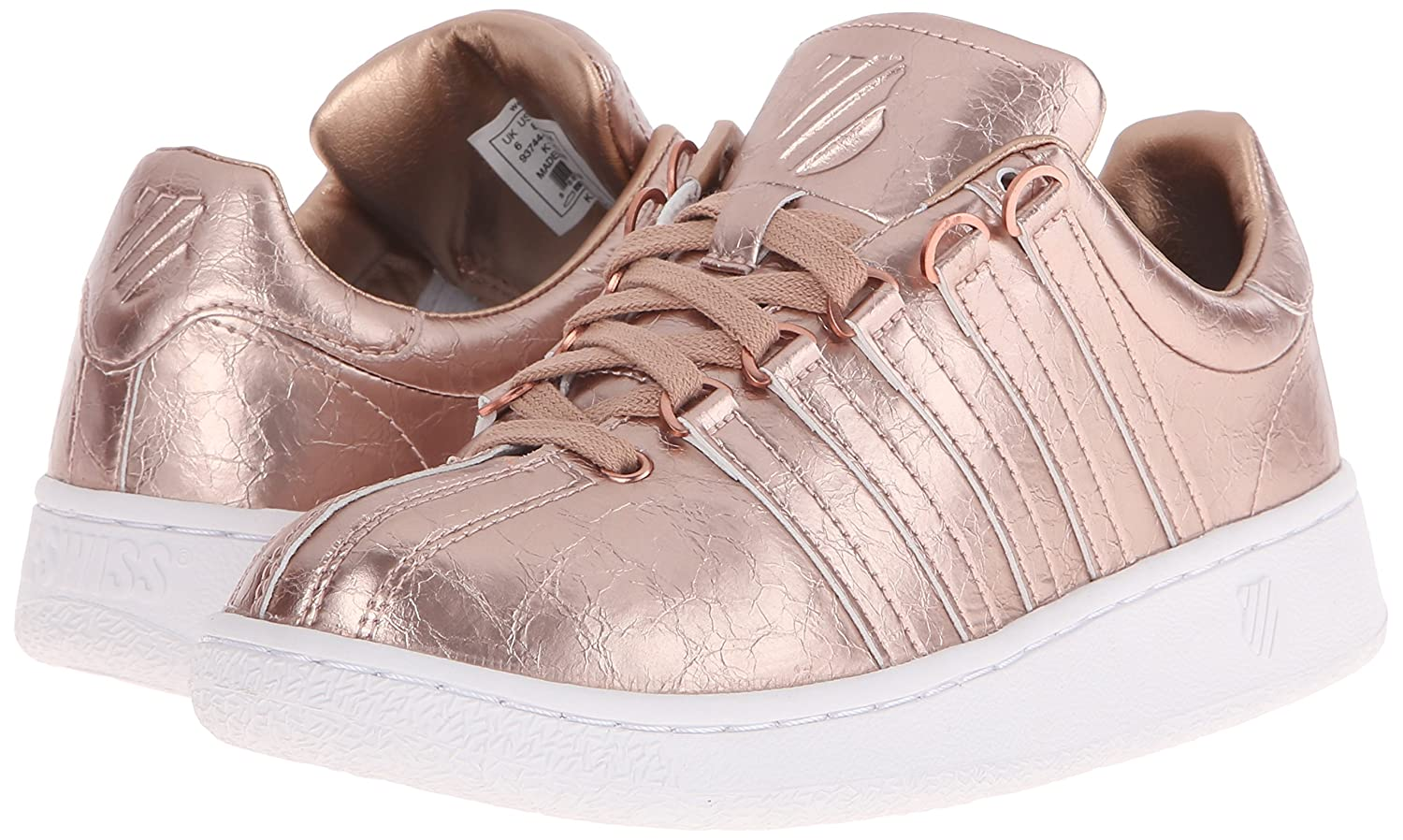 45abd99583f0 K-Swiss Women s s Classic Vn Aged Foil Low-Top Sneakers  Amazon.co.uk  Shoes    Bags