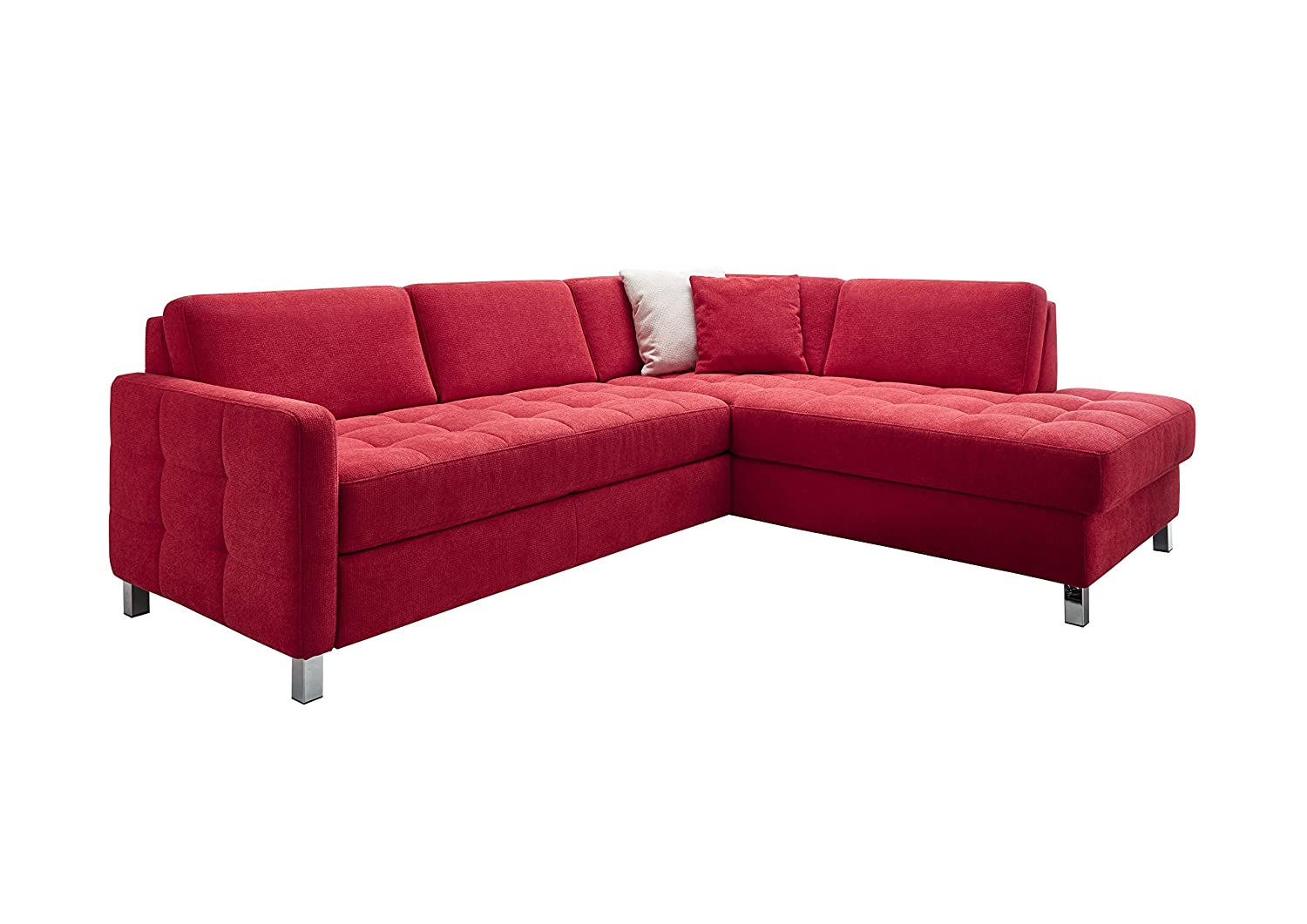 cavadore 5229 polsterecke schlafsofa mit bettkasten schaumstoff rot 233 x 196 x 80 cm g nstig. Black Bedroom Furniture Sets. Home Design Ideas