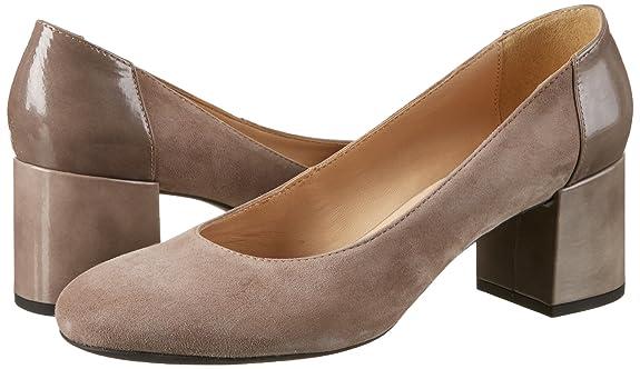 D Audalies Mid C, Zapatos de Tacón para Mujer, Beige (DK Skin/TOFFEEC5QS6), 40 EU Geox