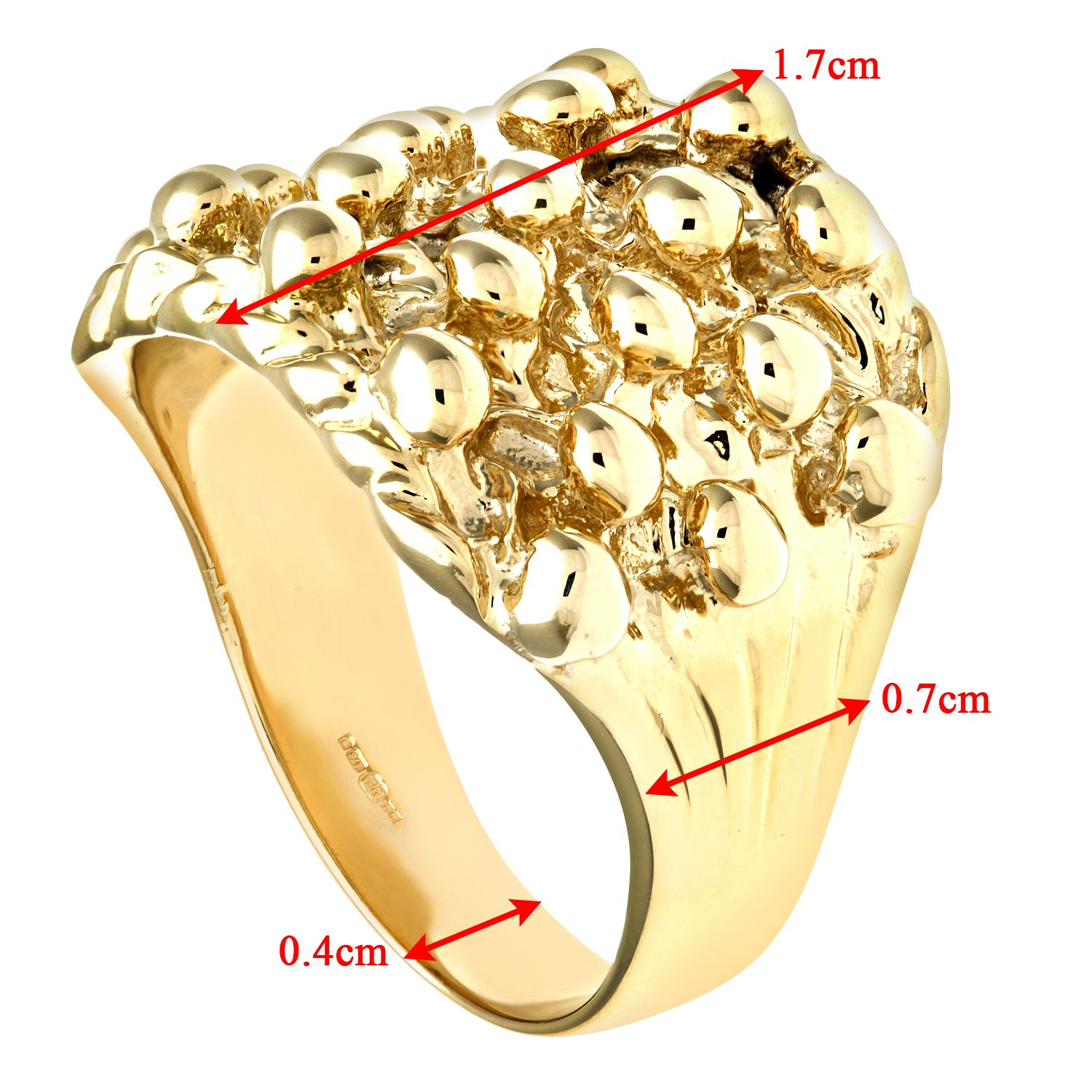 Citerna Men's 9 ct Yellow Gold Keeper Ring pxivZYop