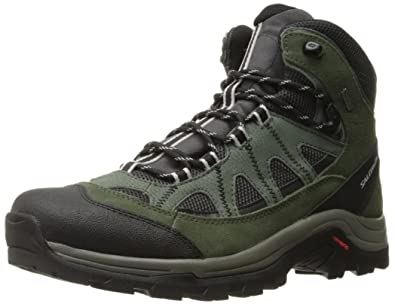 Salomon Men's Authentic LTR GTX Backpacking Boot, Asphalt/Night  Forest/Aluminium, 7