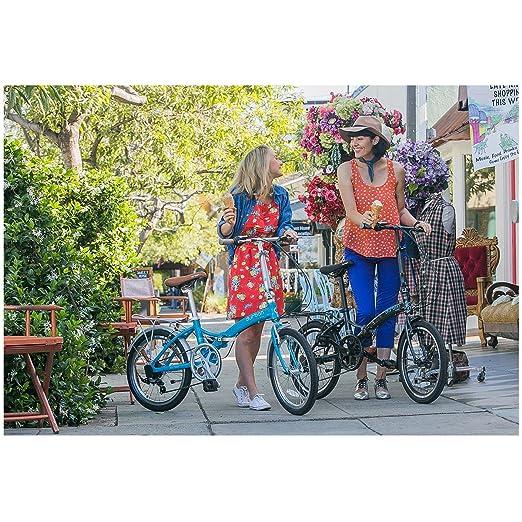 Amazon.com : Durban Sampa XL Folding Bike Shimano Black Bicycle Adults Men Women 24