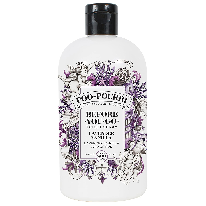 Poo-Pourri Before-You-Go Toilet Spray 16 oz Refill Bottle, Lavender Vanilla Scent (Sprayer Not Included)