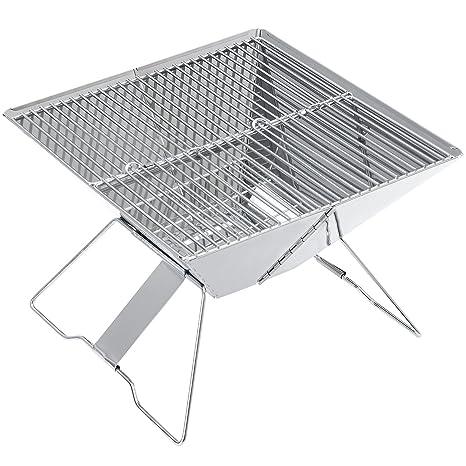 [Pro.tec] Barbacoa plegable acero inoxidable plegable / parrilla portátil / grill /
