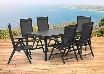Amazonde Kettler Basel Gartenmöbel 1 Tisch 160x95 Cm Und 6