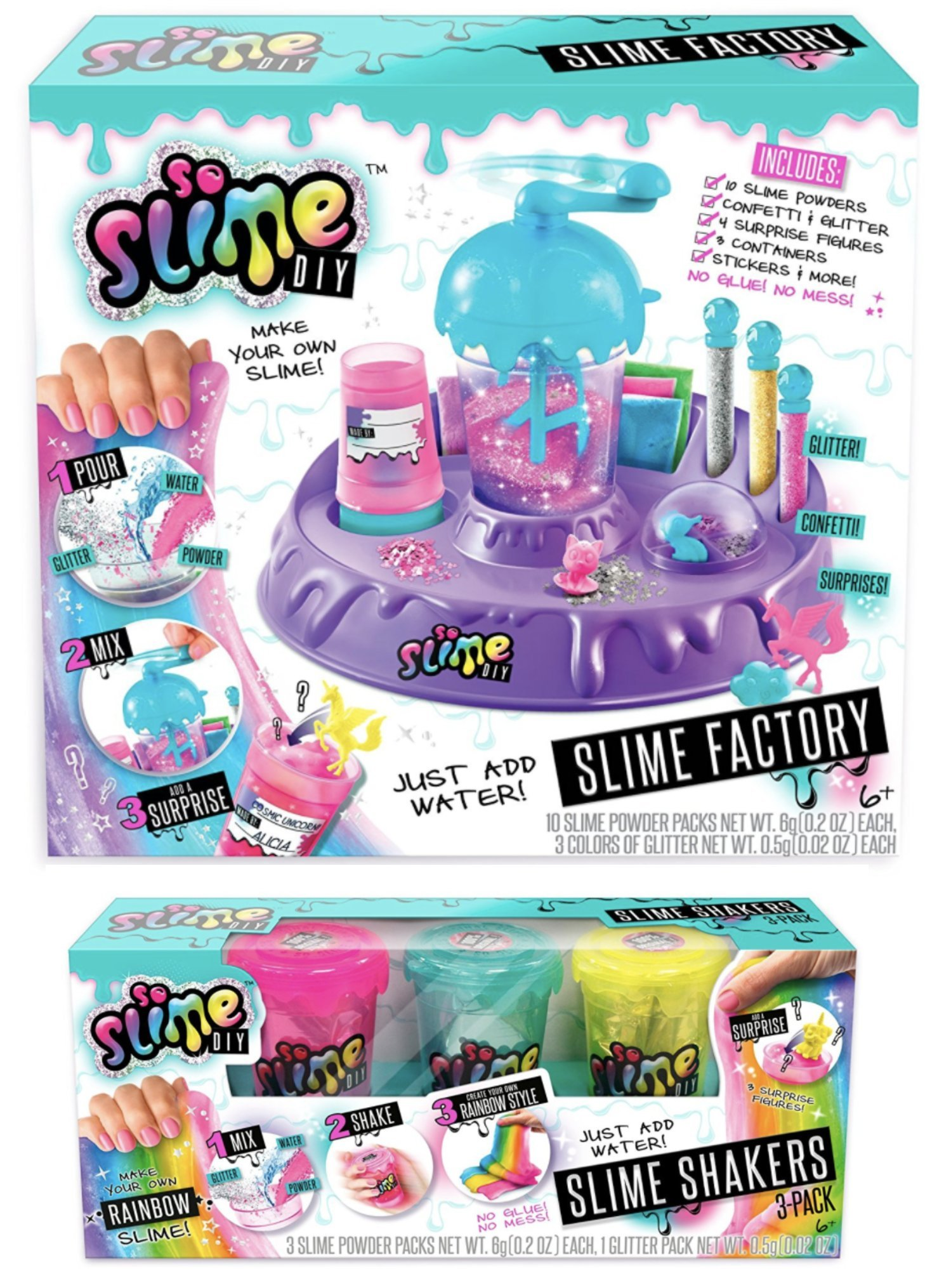 So Slime DIY! Make Your Own Slime! (Factory + Rainbow 3 Pack)