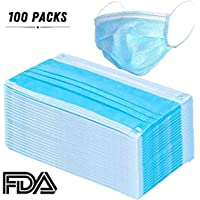 Disposable Face Mask-3Layers(100Pieces) can be use for Dental, Surgical, Medical, Allergy, Pollen, Antiviral, Flue, Cleaning, Painting, Mouth, Cover