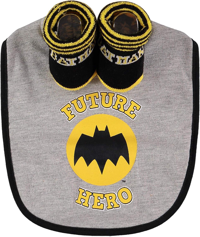 DC Comics Batman Infant Boys Bib and Bootie Set Gift 0-12 Months