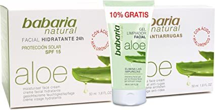 Babaria - Gel limpiador facial + Crema facial anti-arrugas + Crema ...