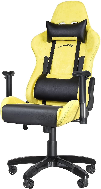 Speedlink Regger Gaming Chair, Piel Sintética, Amarillo, 69x65x132 cm: Amazon.es: Hogar