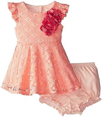 65f3bca9f Amazon.com  PIPPA   JULIE Baby Girls  Flutter Sleeve Dress