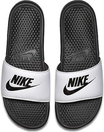 Nike Benassi Jdi, Chanclas Unisex Adulto, Multicolor (White/Black/Black), 42.5 EU
