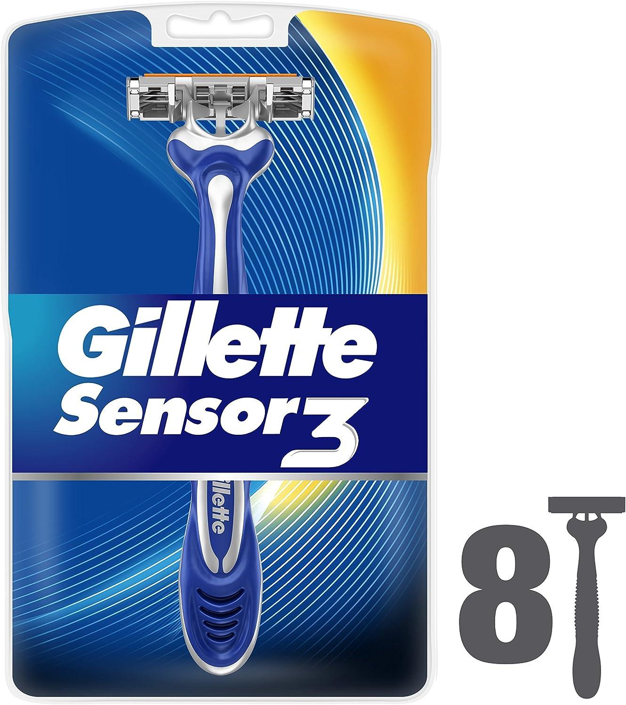 Gillette Sensor3 Maquinillas desechables para hombre - 8Unidades