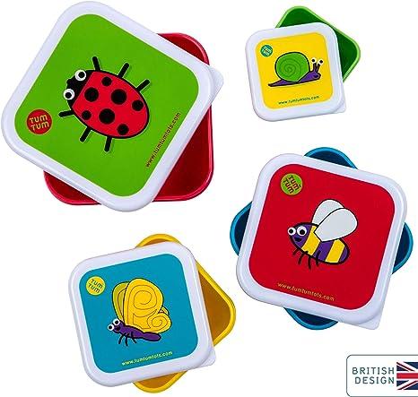TUM TUM Anidando ollas de merienda para niños, cajas de aperitivos ...