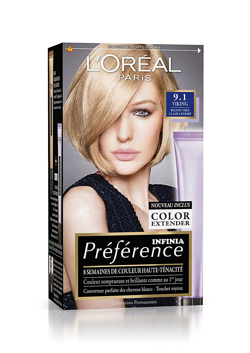 Coloration blond tres tres clair cendre