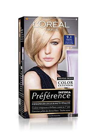 prfrence loral paris coloration permanente 91 blond trs clair cendr - Coloration Cendr