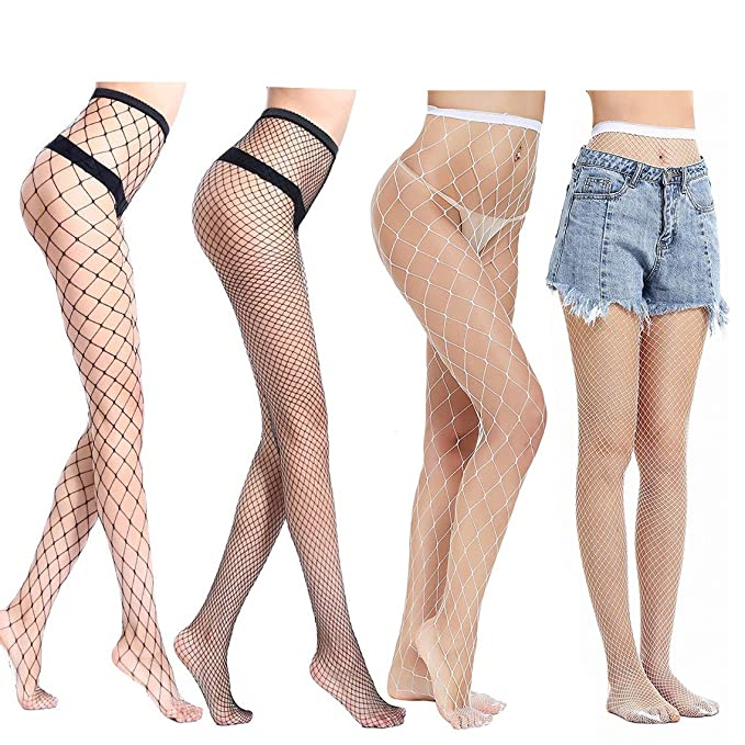 29cc7e604 Ypser Fishnet Tights Mesh Stockings Sparkle Rhinestone Glittering ...