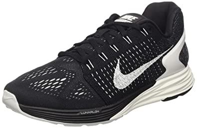 7d78cf8037f0 Nike Men s Lunarglide 7 Running Shoe Black Anthracite Wolf Grey Summit  White Size