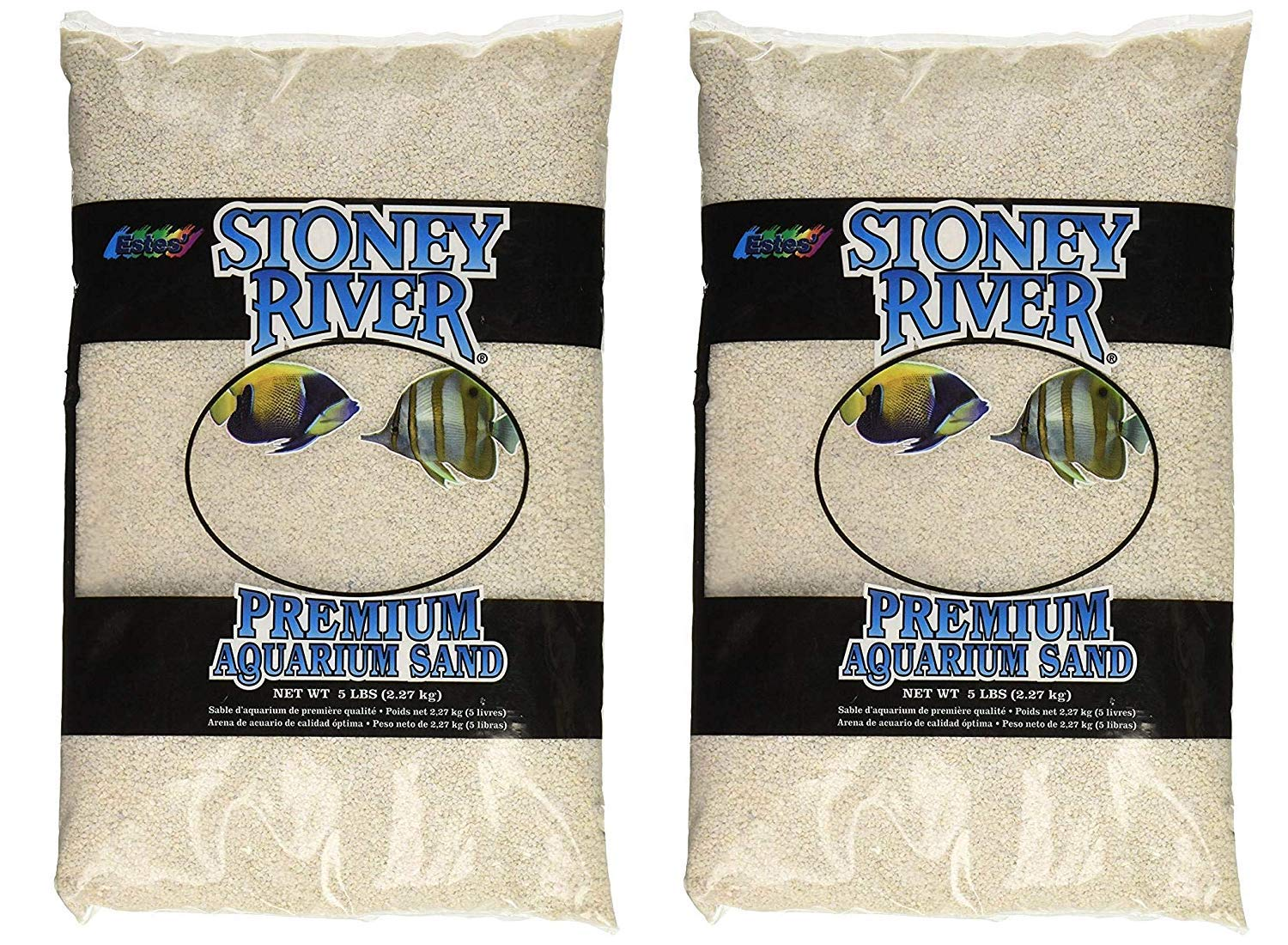 Stoney River White Aquatic Sand Freshwater and Marine Aquariums, 5-Pound Bag (Тwo Рack) by Stoney River