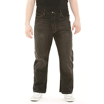 626 BLUE Men's Big and Tall Relaxed Fit Straight Leg Jeans: Clothing