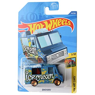 Hot Wheels Art Cars 7/10 Quick Bite 115/250, Blue: Toys & Games