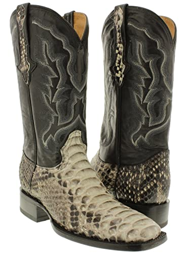 6e0dbade33a Cowboy Professional - Men's Natural Python Back Snake Skin Cowboy Boots  Square.