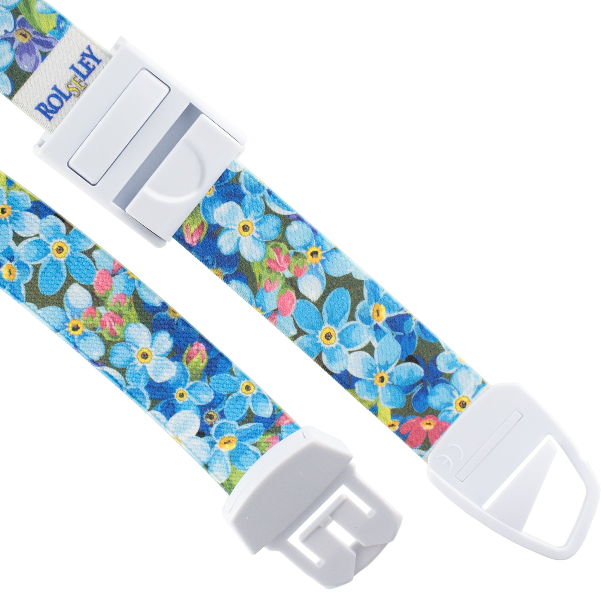 ROLSELEY PROFESIONAL Quick and Slow Release Medical Nurse Tourniquet with FLORAL FORGET-ME-NOT Pattern