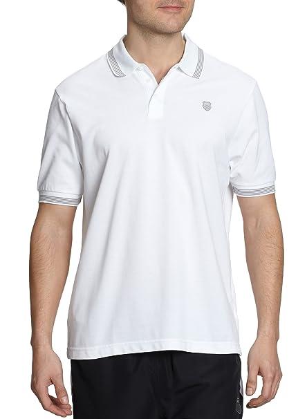 K-Swiss Camiseta de pádel para hombre, tamaño L, color blanco: Amazon.es: Deportes y aire libre
