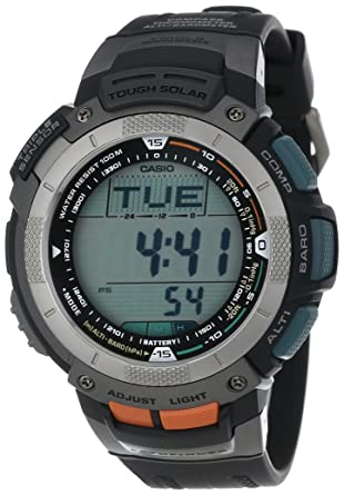 amazon com casio men s pag80 1v pathfinder altimeter barometer rh amazon com Watch Casio Sport Pathfinder Manual Watch Casio Sport Pathfinder Manual