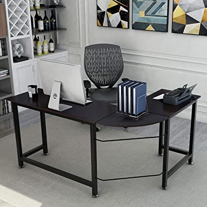 Buy shape home office Black Image Unavailable Olindes Furniture Amazoncom Modernluxe Wf036968baa Lshape Home Office Corner