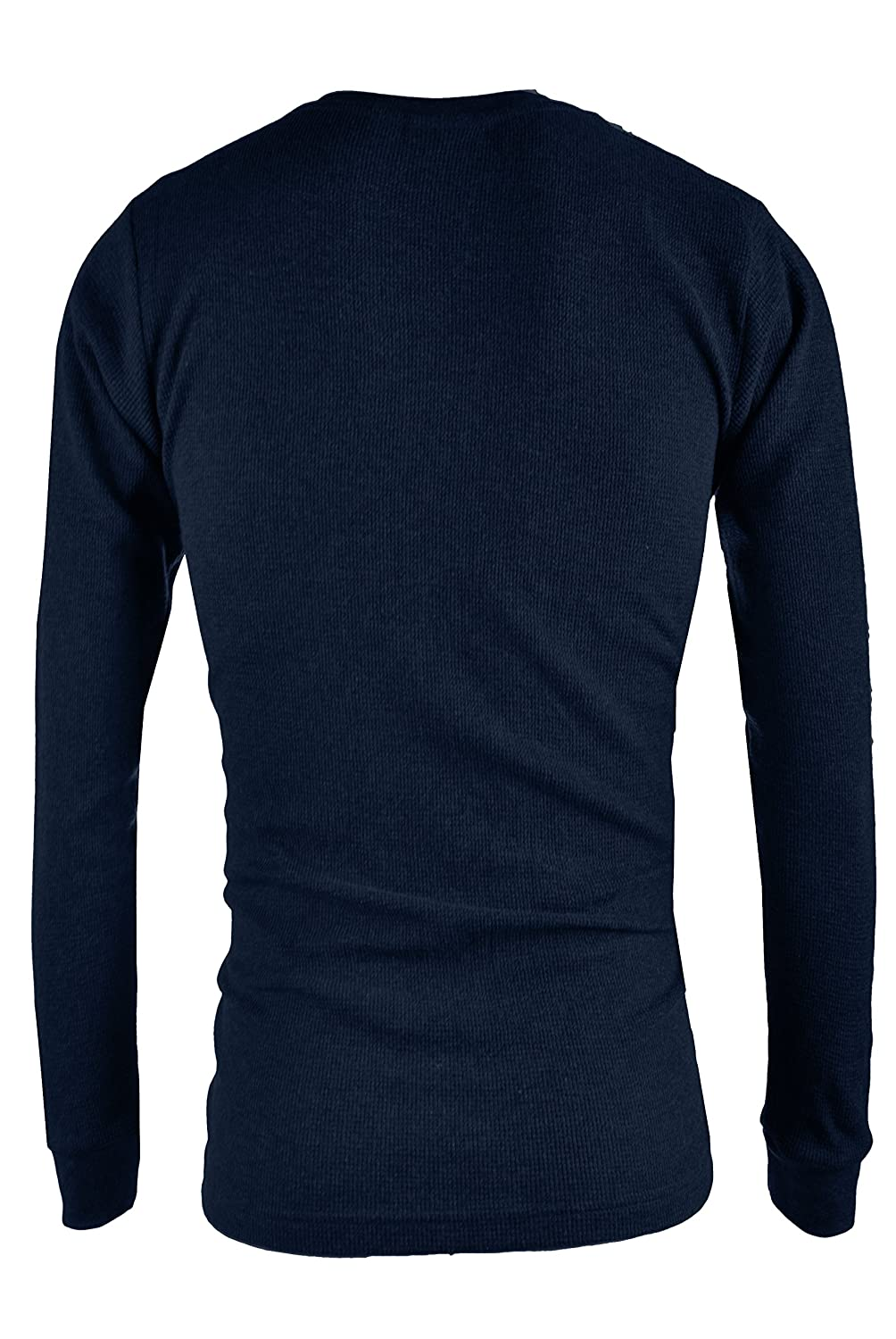 OLLIE ARNES Mens Long Sleeve Heavy Warm Thermal Crew Neck Shirt 100/% Cotton Top