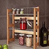 Étagère à épices - 3 niveaux - A fixer au mur ou dans un placard