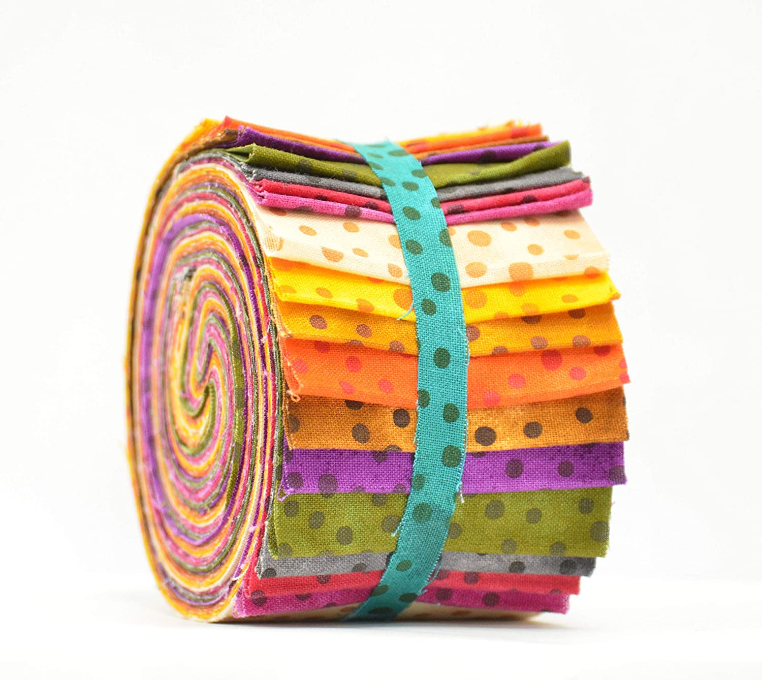 2.5 W x 45 L Craft 100/% Cotton Patchwork 20 Strips Bundle Multicolour Floral Jelly Rolls Fabric for Quilting
