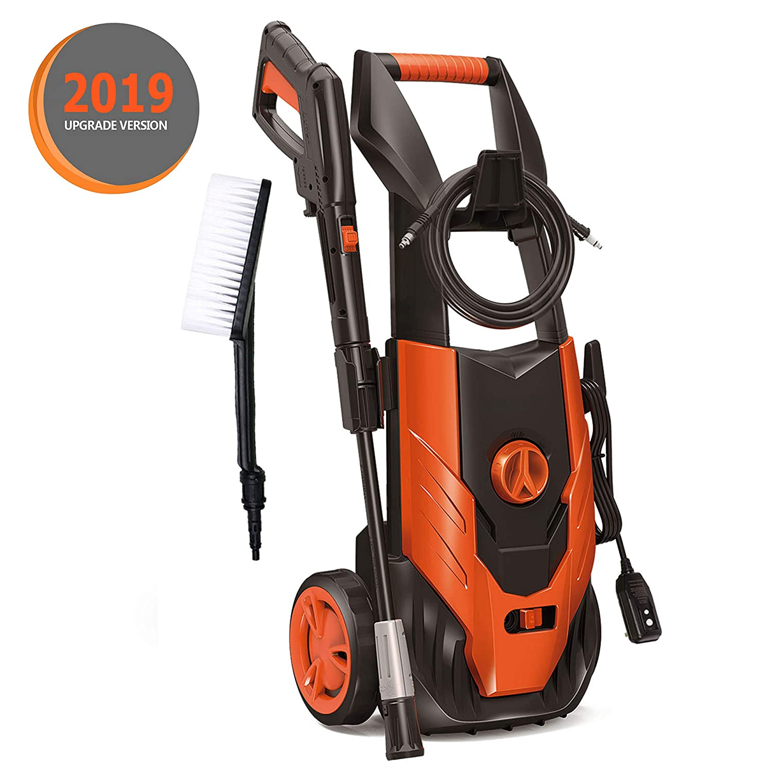ENSTVER Electric Power Washer,1800PSI 1.8 GPM 1800W Washer Cleaner Machine with,Spray Gun,Spray Brush,Adjustable Nozzles and Onboard Detergent Tank