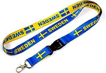 Sweden Flag Cruise Ship Lanyard 2-Pack Detachable Breakaway ID Holder