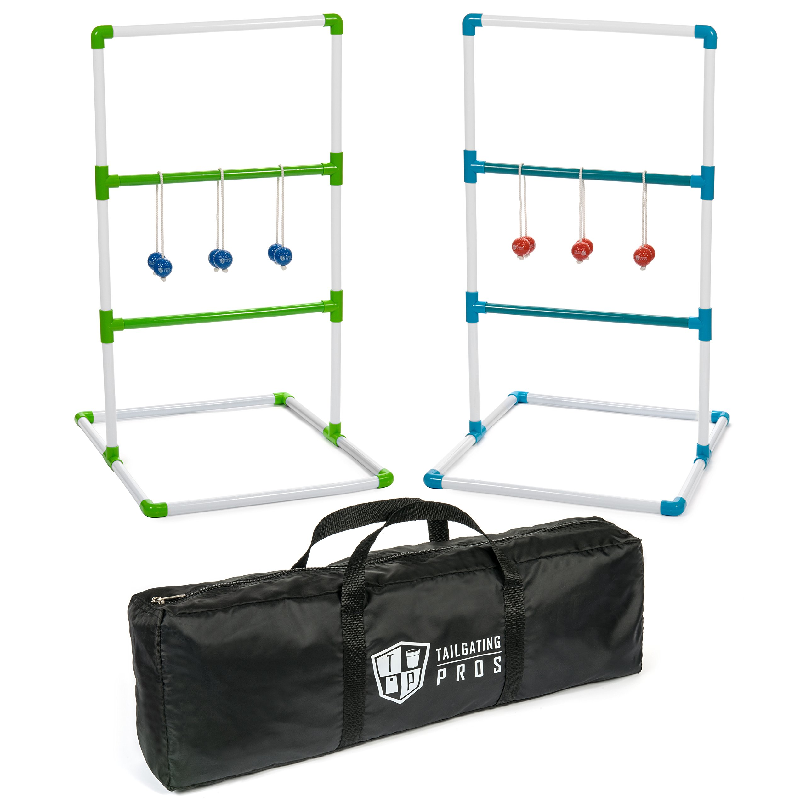 Tailgating Pros Premium Ladder Ball Game with Bolos and Carrying Case Ladder Toss by Tailgating Pros