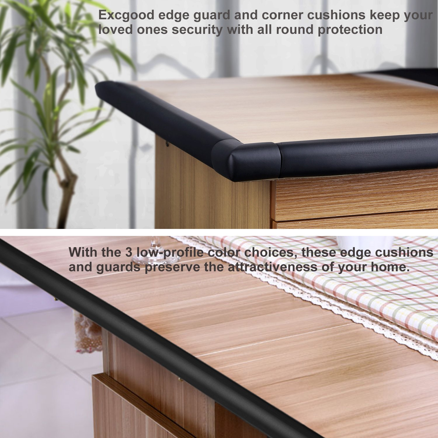 Amazon Excgood Table Edge Guard & Corner Bumpers for Baby