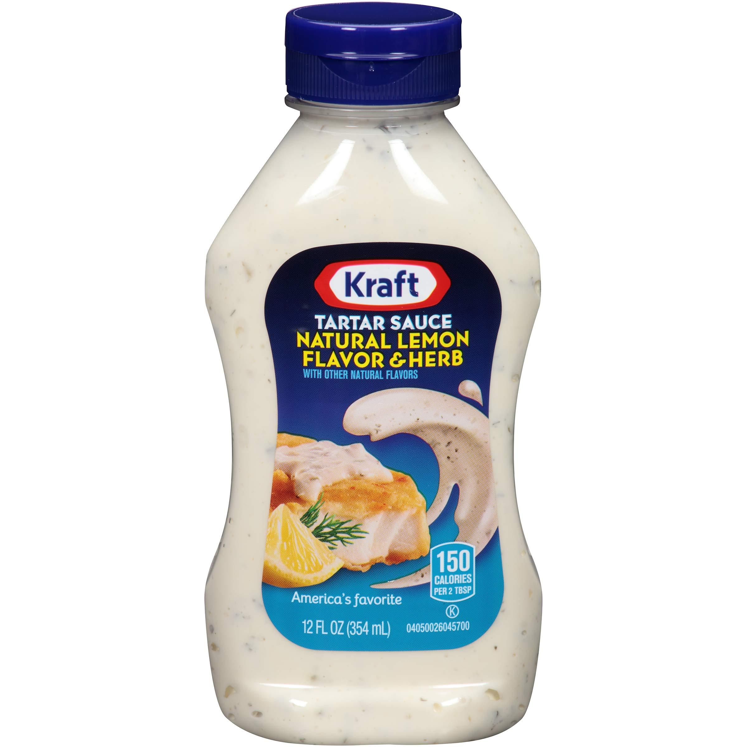 Kraft Natural Lemon & Herb Tartar Sauce (12 oz, Pack of 12) by Kraft Brand Sauce