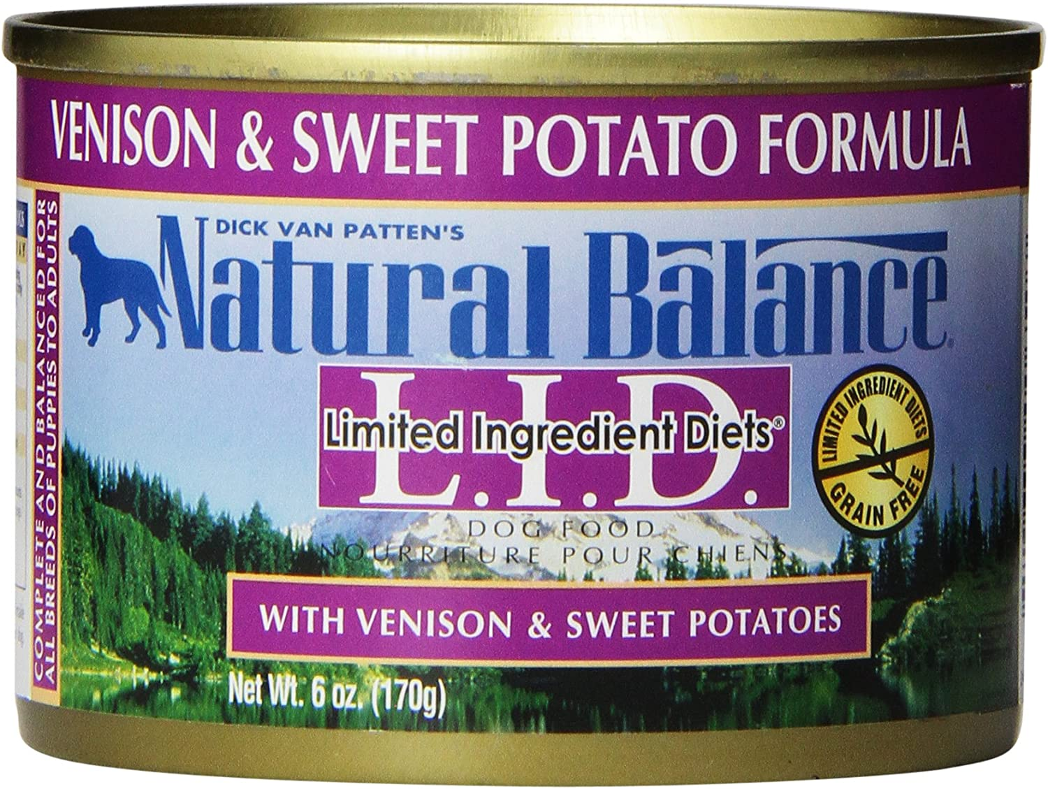 Natural Balance L.I.D. Limited Ingredient Diets Grain Free Sweet Potato & Vension Formula Wet Dog Food