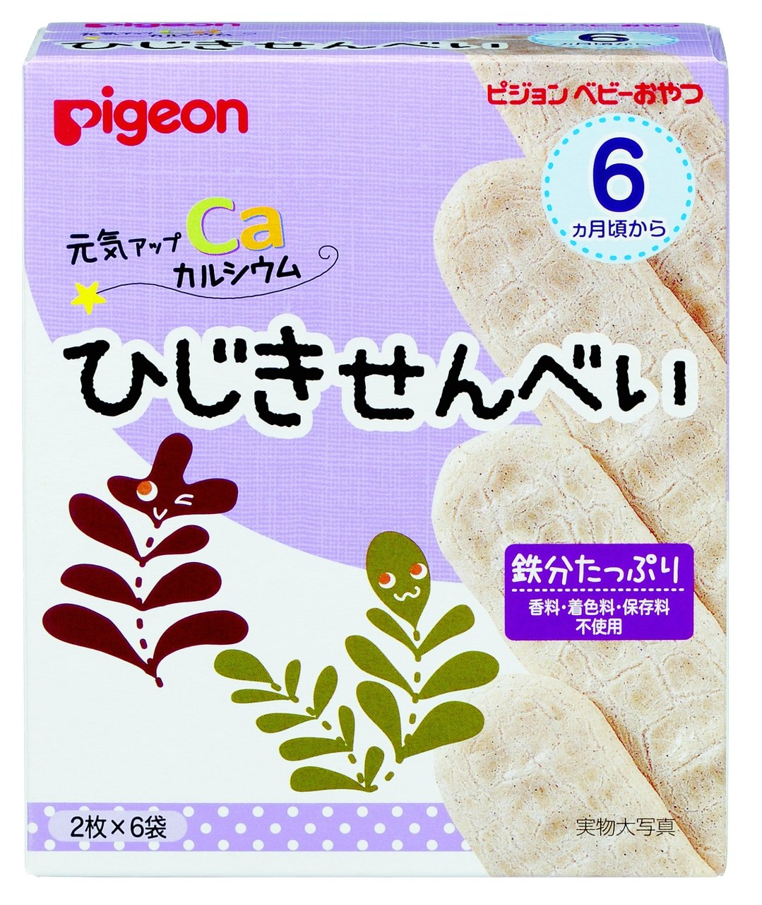 Pigeon baby snack healthy up calcium hijiki rice crackers 6 bags input ~ 12 pieces by Pigeon
