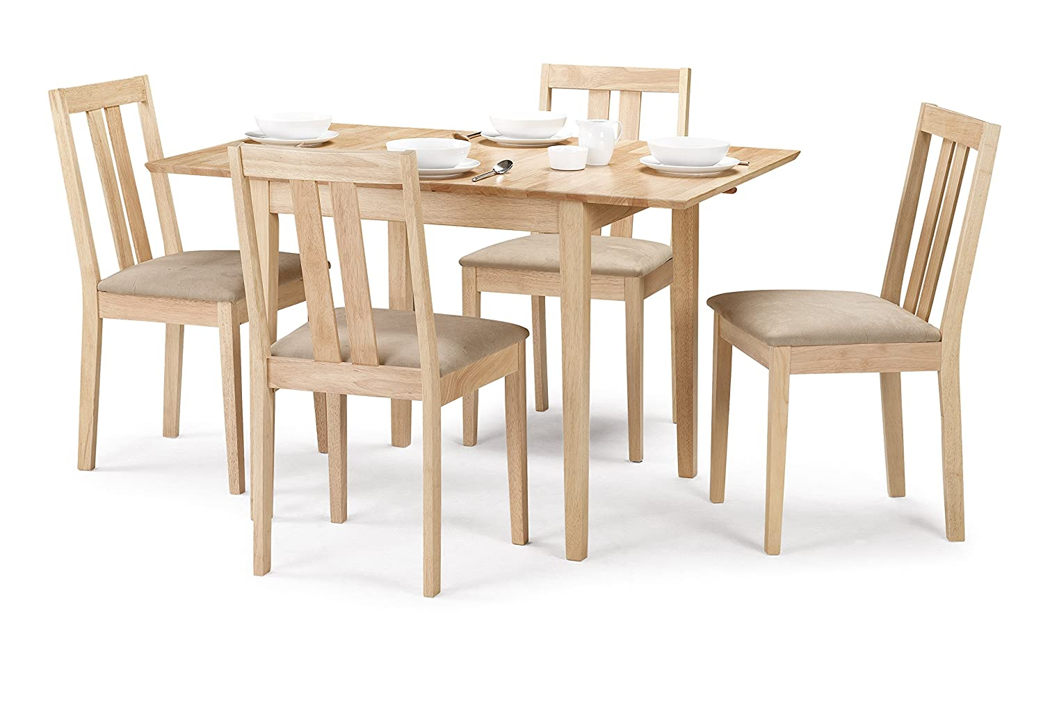 Outstanding Julian Bowen Rufford Extending Dining Table Set With 4 Chairs Light Wood Download Free Architecture Designs Viewormadebymaigaardcom