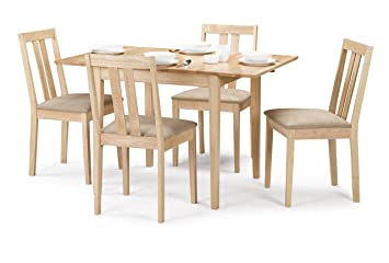 Awe Inspiring Julian Bowen Rufford Extending Dining Table Set With 4 Chairs Light Wood Complete Home Design Collection Lindsey Bellcom