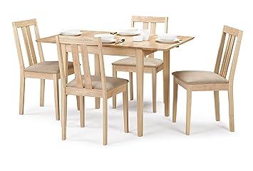 promo code 6baa7 95a4b Julian Bowen Rufford Extending Dining Table Set with 4 Chairs, Light Wood