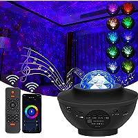 XWT Star Projector Lamp, Ocean Wave Starry Nachtlampje Voor Slaapkamer, Kleur Veranderende Muzieklamp met Bluetooth…