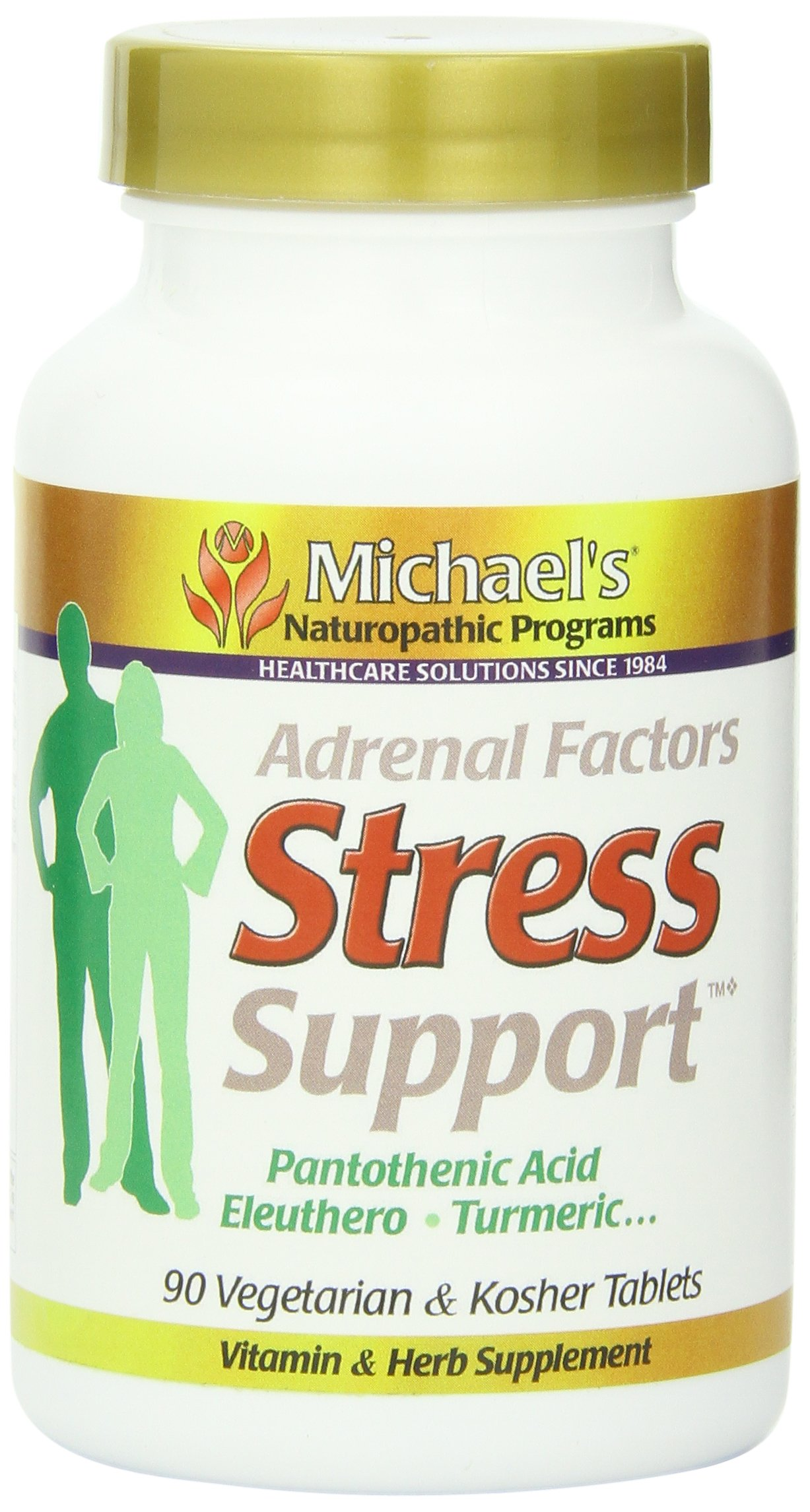 Michael's Naturopathic Progams Adrenal Factors Stress Support Supplements, 90 Count