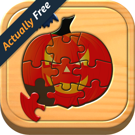 Kids Halloween Jigsaw Puzzle Logic and Memory Games