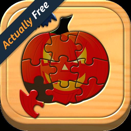 Kids Halloween Jigsaw Puzzle Logic and Memory Games for preschool children (Dot To Dot Halloween For Preschool)