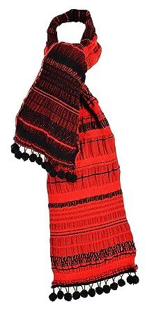 eebd57dc5ed4 Madame Dutilleul - Echarpe Pompons rouge noir  Amazon.fr  Vêtements ...