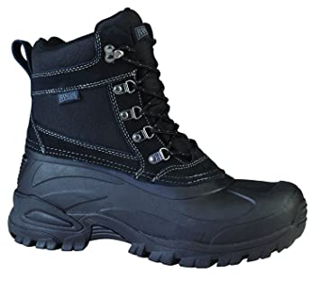"""Ranger Cabot 9"""" Men's Suede & Nylon Thinsulate Winter Boots Black (RP105) 14"""